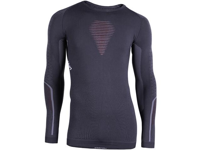UYN Visyon UW LS Shirt Herre charcoal/red/white